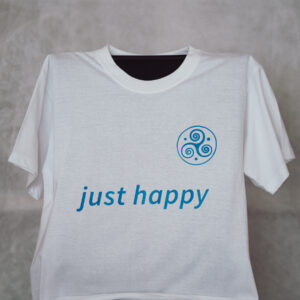 just happy T-Shirt weiss