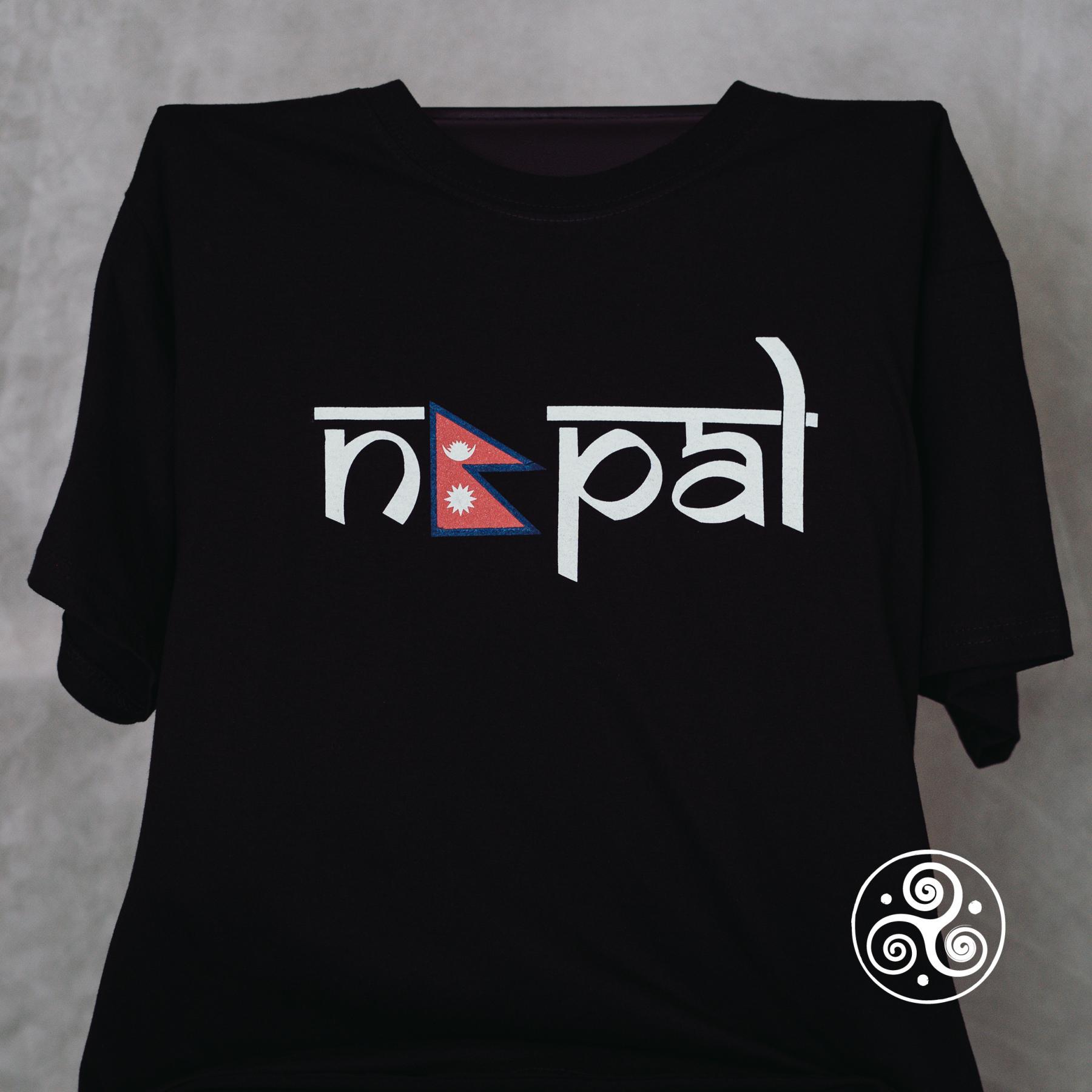Nepal T-Shirt schwarz