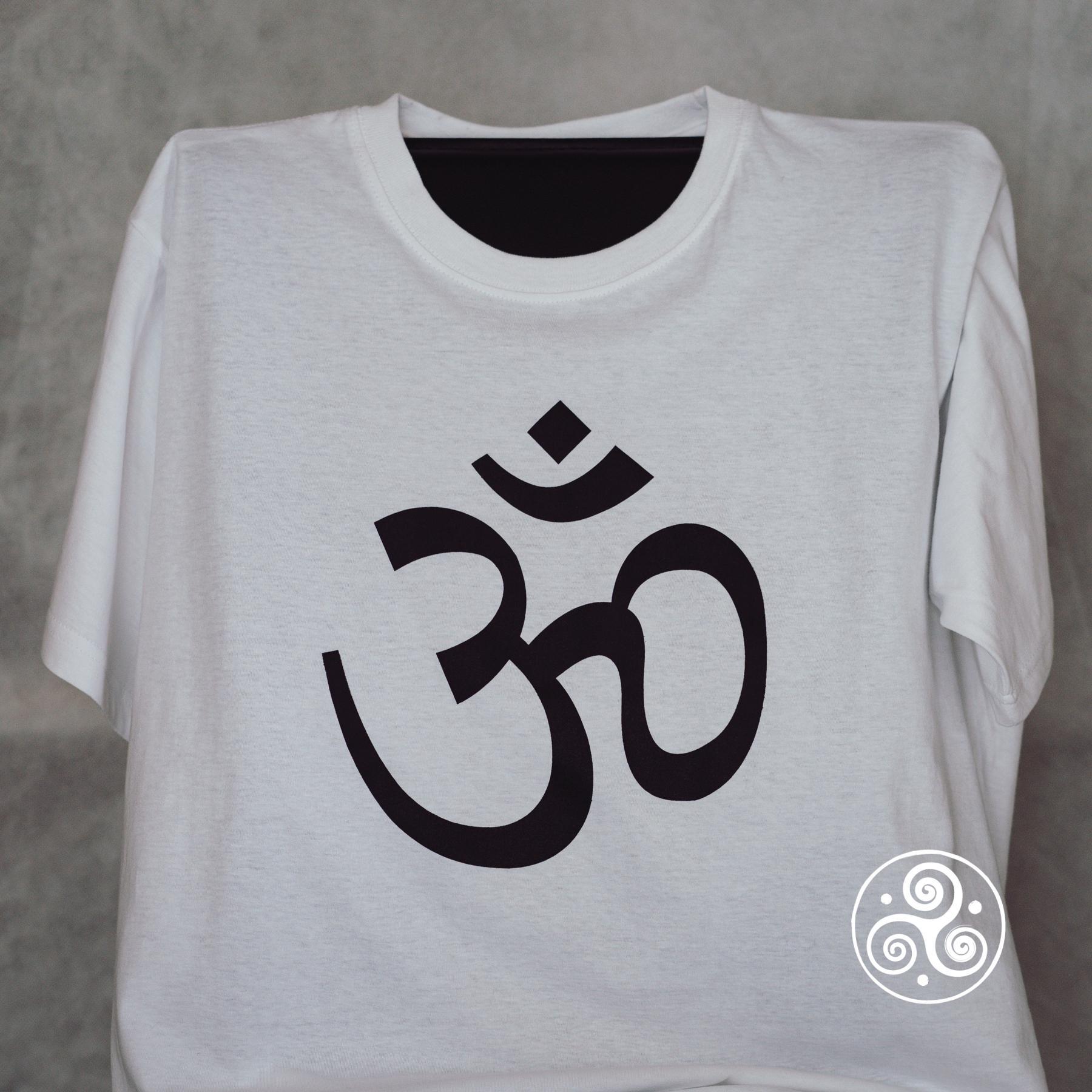 Om T-Shirt weiss