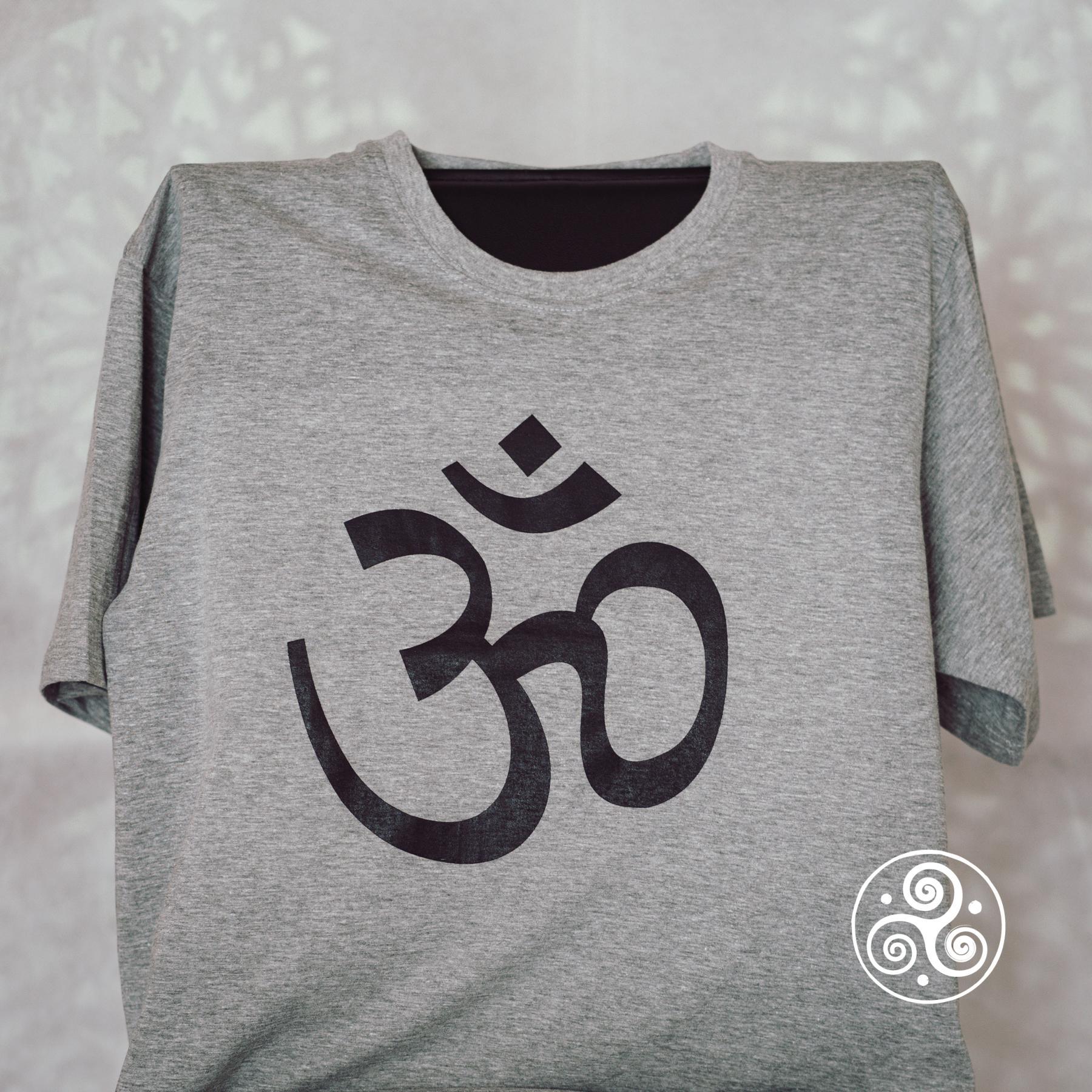 Om T-Shirt grau
