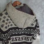 Kapuzenansicht Planet Wool Jacke