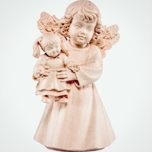 Engel mit Puppe Natur