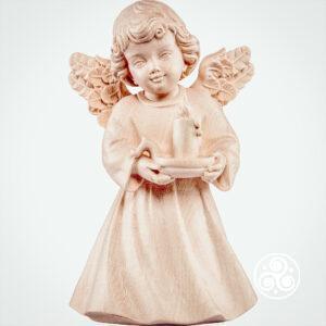 Engel mit Kerze Natur