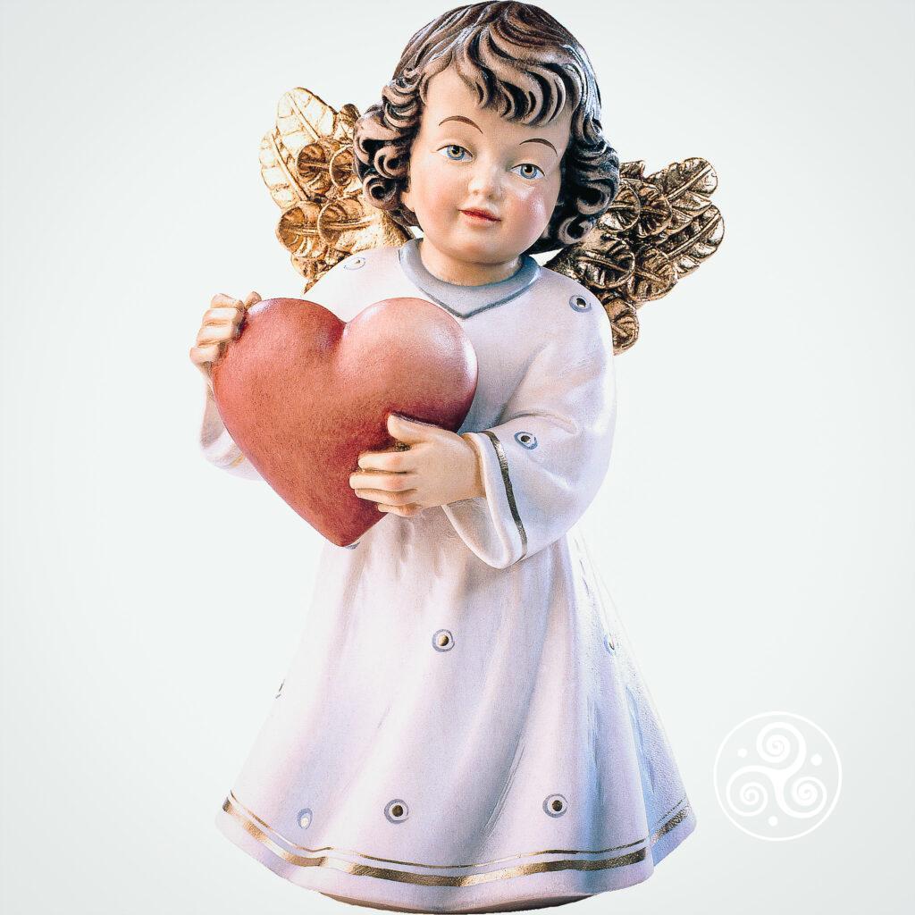 Engel mit Herz lasiert