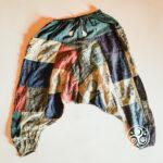 Farbenfrohe Patchwork Yoga-Hose aus Nepal
